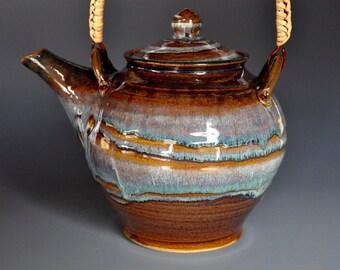 Large Pottery Teapot Ceramic Teapot Stoneware Teapot A