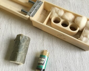 Vintage bakelite box  art deco box  science supply box  biology supply box