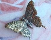 Miniature Bronze Butterfly, Nikita Fedosov, Vintage Art Bronze Collectible Figurine  RESERVED