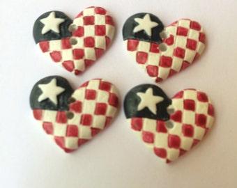 Love America Magnets / Teacher Gift / Decorative Magnets / Fridge Magnets / Office Magnets / USA Magnets / Kitchen Magnets