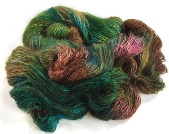 Changeling Silk Kid Mohair Yarn.  Forest By The Sea.