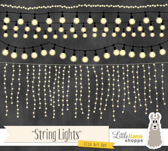 String Lights Clipart Fairy Lights Clip Art Wedding