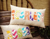 Appliqued Name Pillow Covers