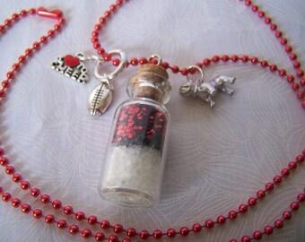 Vial Pendant Necklace Cheerleader or Fan Team Spirit