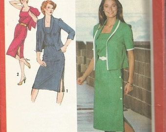 Vintage Simplicity 9383  Plus Size Dress and Jacket Pattern SZ 40.