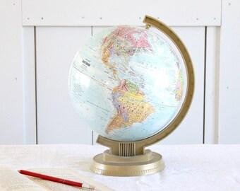 GREAT Vintage 9 inch Replogle World Scholar Series Globe