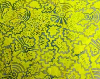 Gold Yellow Batik Cotton Material Batik Fabric
