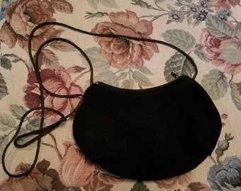 Vintage Leather Suede Purse Zippered Closure