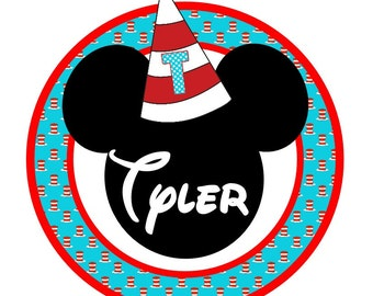 Happy Birthday Mickey, Minnie, Cat in the Hat iron on at Giggles to Go