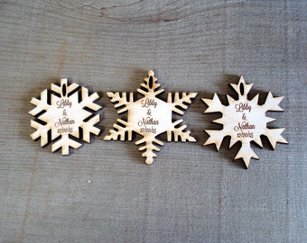 175 Snowflake Wedding Favors Winter Wedding Christmas Wedding