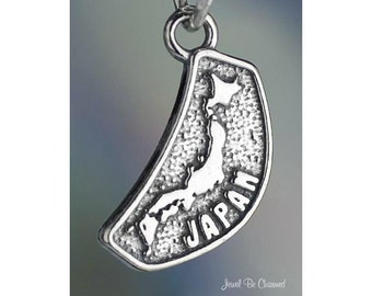 Japan Charm Sterling Silver Japanese Country Asia Travel Solid .925