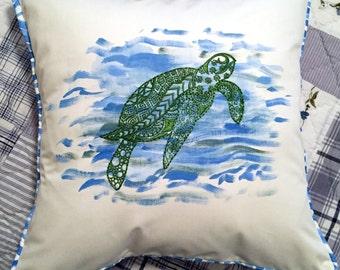 Decorative  Pillow- Sea Turtle
