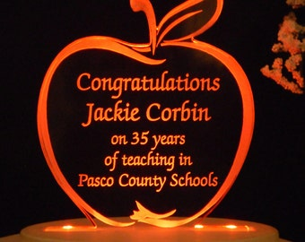 Teacher - Education - Cake Topper  - Engraved & Personalized - Light EXTRA