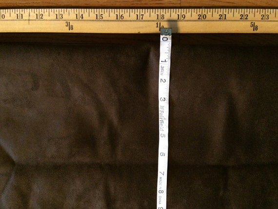 1 YARD Soft Warm BROWN Faux Suede material sewing Renaissance Bodices Doublets Halloween Autumn Fall Coat - Cloak - Capes Fabric  F21