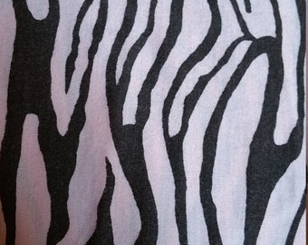 Pink and brown zebra jersey knit
