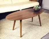 Sample Sale 25% Off Floor Sample SALE - Valencia Walnut Mid Century Surfboard Coffee Table