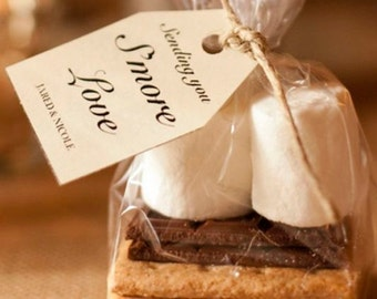 """100 Poly Smores Gusseted Favor Clear Bags Clear also for Candy, Cookies, and Popcorn 4""""x2""""x8"""""""