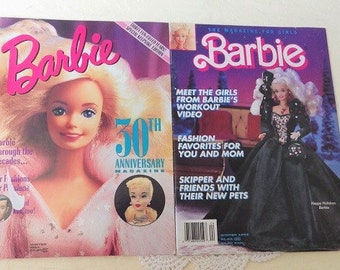 Barbie Magazines: 30th Anniversary Edition, 1990 and Happy Holidays Edition, 1992