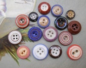 16 Antique China Buttons Mixed Lot #8
