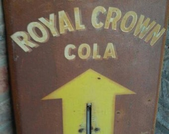 Royal crown thermometer - antique vintage thermometer