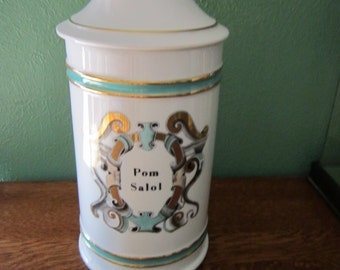 Mid Century Paul HANSON Large Apothocary Jar Pom Salol