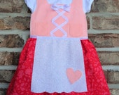 Baby dirndl (Valentines Day Dress, German baby Dirndl)