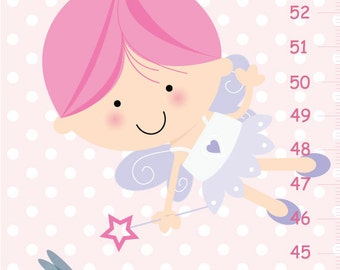 Personalized Canvas Growth Chart Fairy
