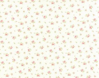 Bespoke Blooms - Sprinkled Floral in Linen White by Brenda Riddle for Moda Fabrics