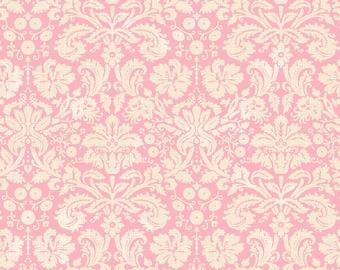 Flora & Fauna - Somerset Damask in Pink by Brenda Walton for Blend Fabrics