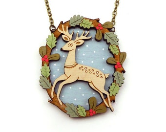NEW! Leaping Deer Necklace