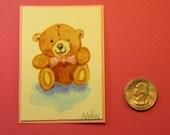 "ORIGINAL CLOVER ACEO Handmade in Watercolor (2.5 x 3.5"")"