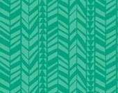 Crib Sheet - Emerald Geo Braid - Fitted Crib Sheet
