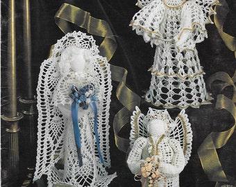 Vintage Annie's Attic Adornment Angels Crochet Thread Patterns 6 designs 1994