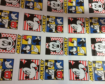 """RARE PATTERN Vintage Mickey mouse Disney contact paper 18x80 inches """"style jo"""""""