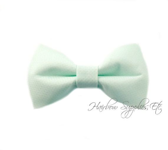 Mint Fabric Bows 2.5 inch - Embellishment - Hair Bows, Bow Tie, Fabric Bows, Bows For Girls, Bow For Hair, Hair Bows For Babies, Tuxedo Bow