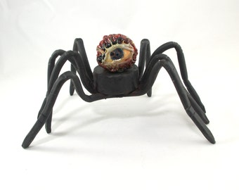 Walking Eyeball Spider #20 - hand forged with hard glass eyeball marble