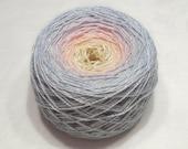 Gradient yarn silk yarn tussah silk yarn fingering yarn handdyed yarn 98g (3.5oz) - Winter sunset