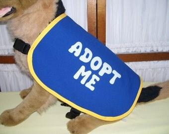 Dog Adopt Me Vest LARGE