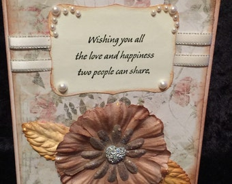 Wedding Anniversary card handmade
