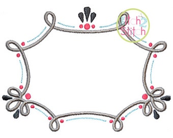 "Swirl Frame Design For Machine Embroidery, Shown with our ""Carson"" Font NOT included  INSTANT DOWNLOAD now available"