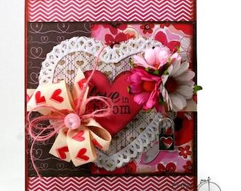 Love in Bloom Greeting Card Handmade