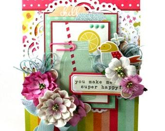 You Make Me Super Happy Greetin Card Handmade