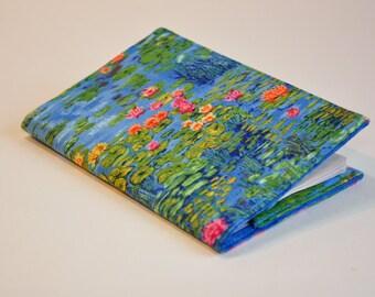 Passport Cover Passport Holder Sleeve monet like water lilies pond flower garden