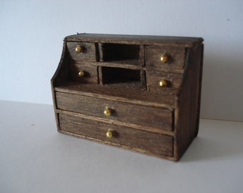 Miniature desk chest of drawers