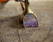 Amethyst Slice Necklace - OOAK