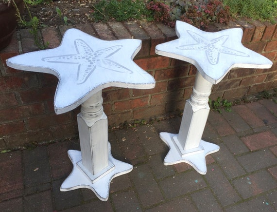 Starfish Sand Dollar Side ONE Table Night Table Shabby Chic
