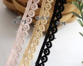 cotton torchon lace by the yard (width 1cm) 82459