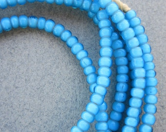 Turquoise White Hearts -2 Strands