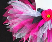 Adult Women's Hot Pink Black and White Tutu...HOT PINK DIVA