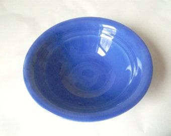 Vintage Harlequin Round Nappy Bowl in Cornflower Blue from Homer Laughlin, Mid-Century, Nine Inch Diameter, Ceramic Retro Vegetable Bowl